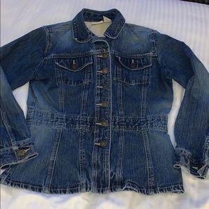 St. John's Bay denim jean jacket medium petite